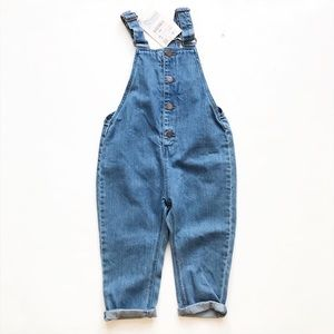 ZARA NWT denim button front jumper 18-24 months